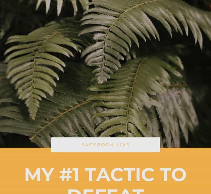 FB Live: My #1 Tactic to Defeat Overwhelm