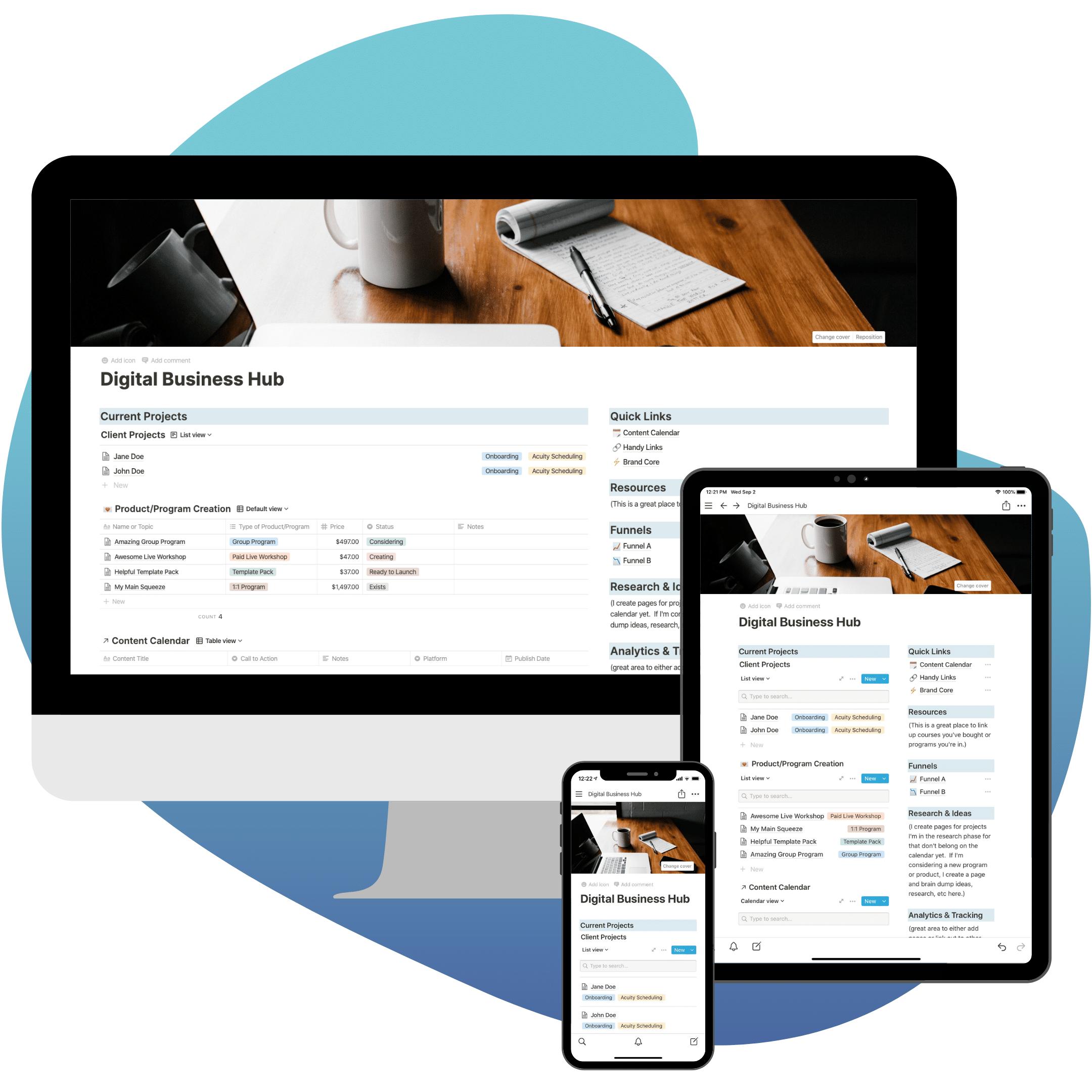 Digital Notion Business Hub